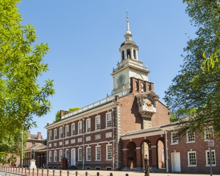 Independence Hall America s Birthplace  Stock Photo