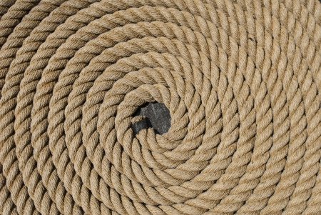 Rope on the USS Constitution Standard-Bild