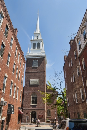 Old North Church where Paul Revere signaled with a lantern