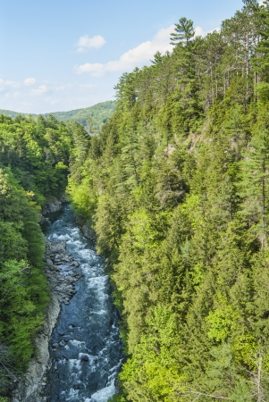 Quechee Gorge from the bridge on Woodstock Road Standard-Bild