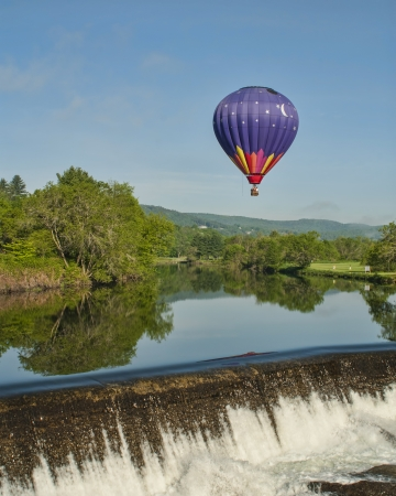 Hot Air Balloon RIde at Quechee Vermont Stock Photo