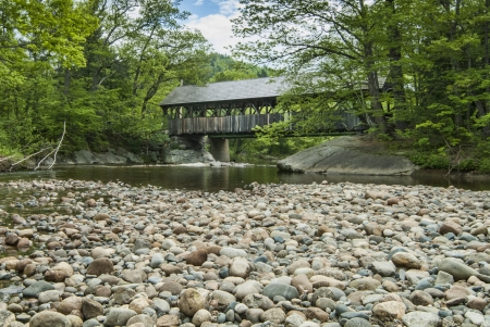 Sunday RIver Covered Bridge in Maine Standard-Bild