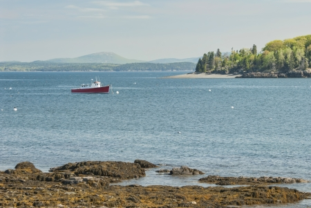 Commercial Fishing Boat in Frenchamans Bay at Bar Harbor Maine