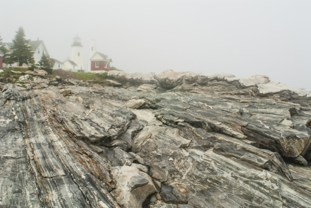 Pemaquid Point Lighthouse in Fog