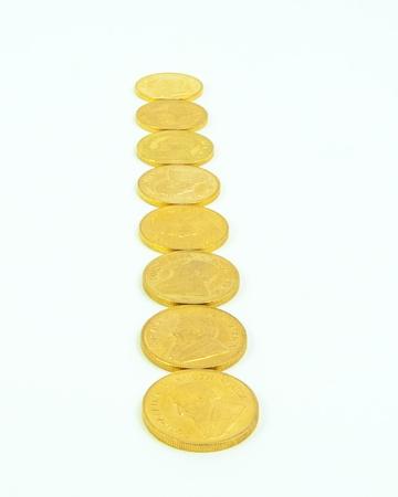 Gold Coins Standard-Bild - 15307736