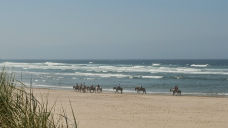 Horseback riding on the beach at Cannon Beach Oregon