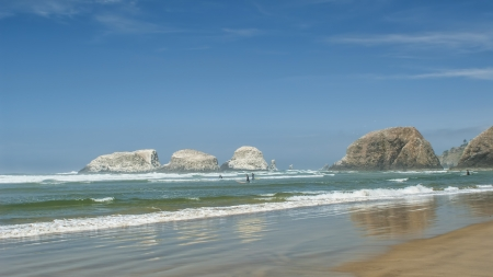 summer Seascape at Cannon Beach Oregon