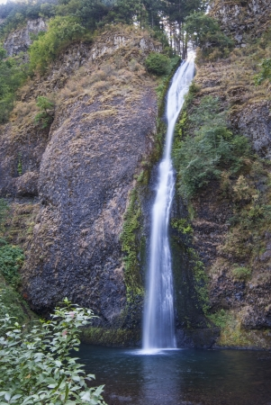 Scenic Horsetail Falls in Columbia River Gorge Oregon