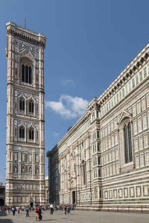endure: Piazza del Duomo in Florence Italy
