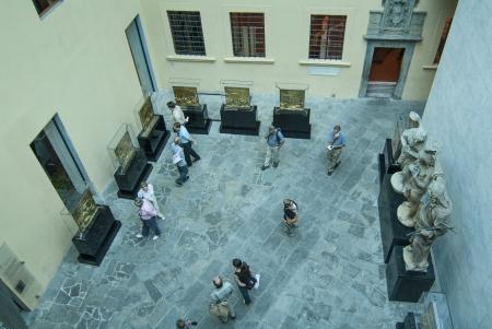 patron of europe: Inside Aerial view of Museo del Opera del Duomo  Editorial
