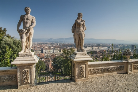 Aerial View of Florence from Bardini Gardens  Editorial
