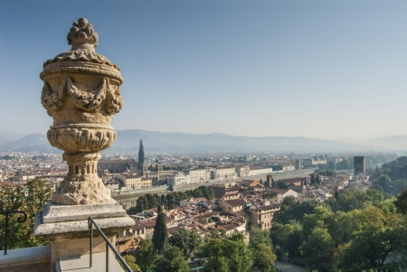 Aerial View of Florence from Bardini Gardens  Stock Photo