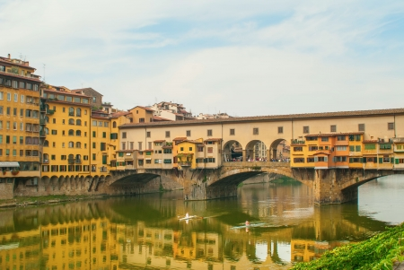 Rowing on the Arno River in Florence