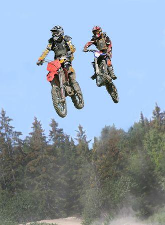 airborne vehicle: taken at massey moto cross