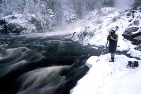 -25 ℃ 高い滝 onaping で撮影しました。 写真素材