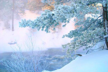 very cold morning -35c Stock fotó