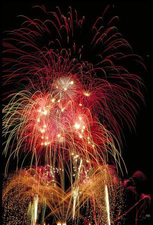 nightime: firework display Stock Photo