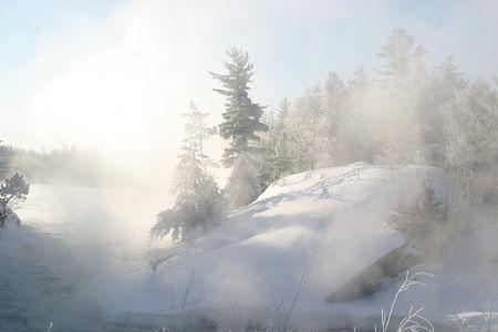 winter scene  at -35c Stock fotó
