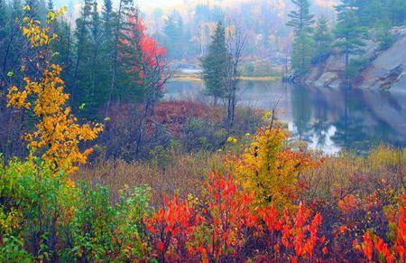 北のオンタリオ州の風光明媚です 写真素材