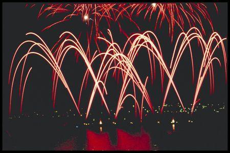 firework display Banco de Imagens