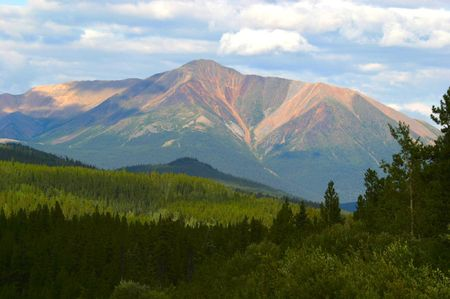 ユーコン準州の山 写真素材