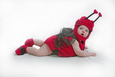 designer baby: is this the pose u want Stock Photo