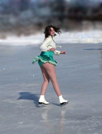 sensual ice skater