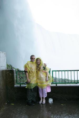 rainwear: near the falls