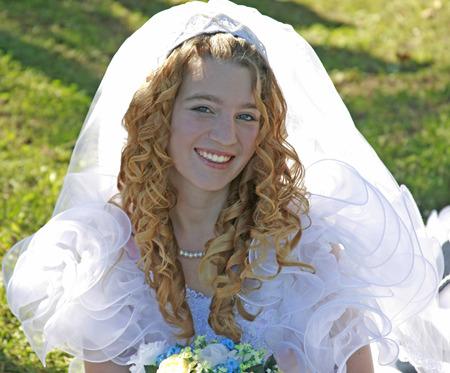 幸せな花嫁 写真素材