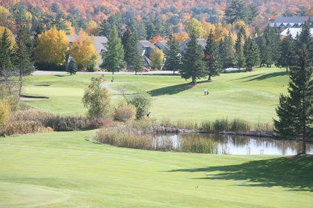 resort golf course ontario 写真素材