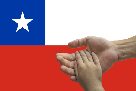 Flag of Chile, intergration of a multicultural group of young people