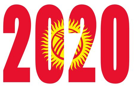 Isolated banners numeral for the year 2020 with a white background, happy new year Standard-Bild - 130812896