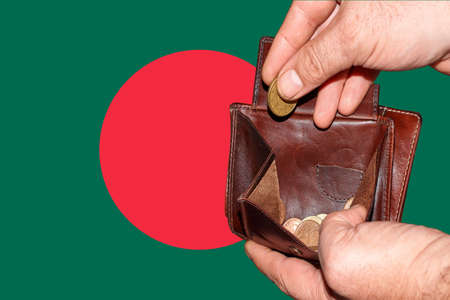 empty wallet shows the global financial economic crisis triggered by the corona virus in Bangladesh