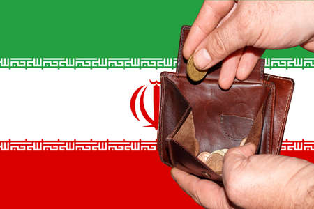 empty wallet shows the global financial economic crisis triggered by the corona virus in Iran Banque d'images