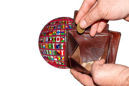 empty wallet shows the global financial economic crisis triggered by the corona virus in the World Banque d'images
