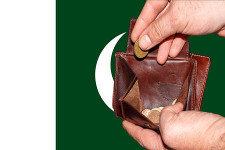 empty wallet shows the global financial economic crisis triggered by the corona virus in Pakistan.