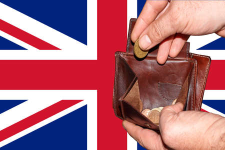 empty wallet shows the global financial economic crisis triggered by the corona virus in United Kingdom