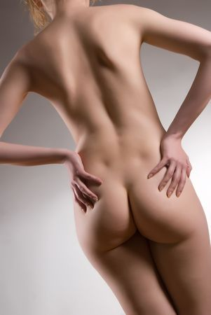 Pretty young naked woman back Stock Photo - 2245554