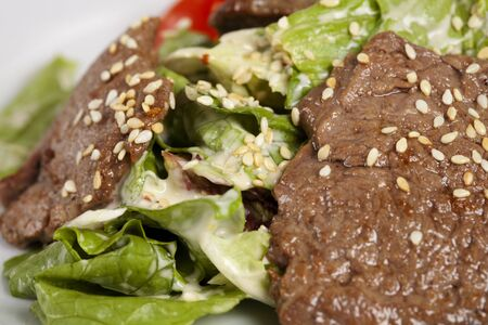 Sesame beef with vegetables