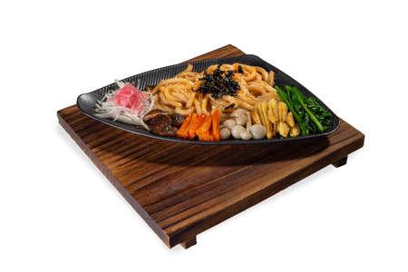 Vegetarian Japanese Udon Noodle salad