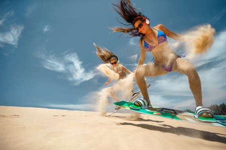Womens on Kite boarding
