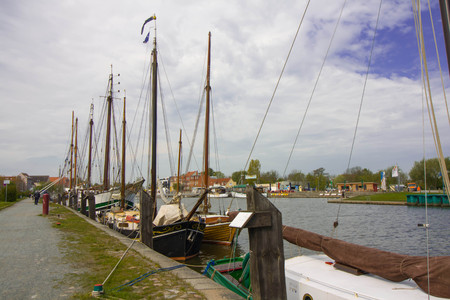 greifswald: Sailboats in the harbor