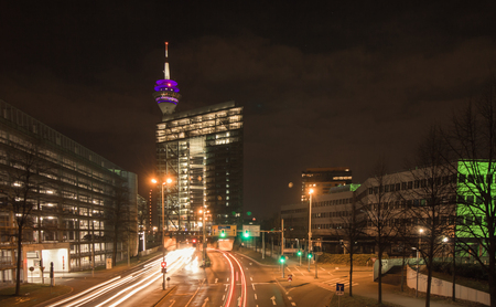 The modern city gate of Dusseldorf Stock Photo