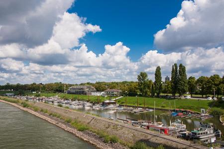 Marina harbor in northern Dusseldorf