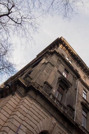 Dark gloomy building Editorial