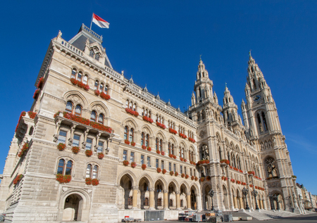 Historic Building - City Hall Vienna District Inner City (Austria in Europe)