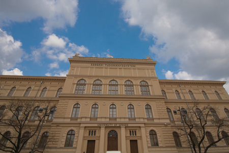 Building of the University of Szeged in the south of Hungary, Europe Editorial