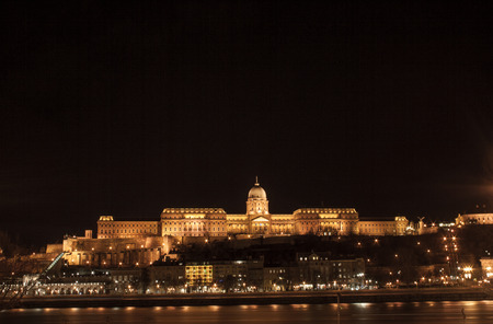 The castle palace in Budapest, the capital of Hungary in Europe