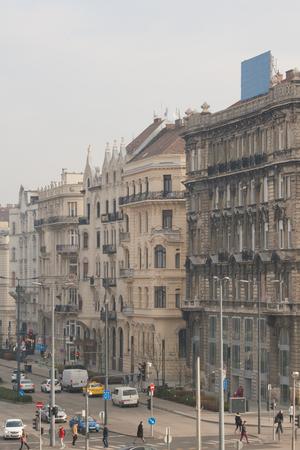 Urban scene in Budapest on the Szabad Sajt? tca street Banco de Imagens - 110048897