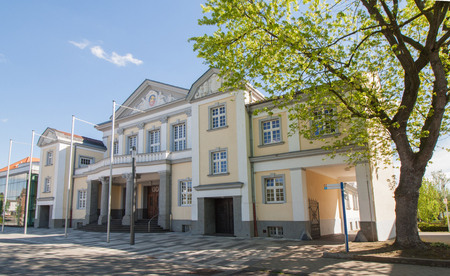 The historic festival hall in Viersen in summer Editorial
